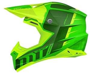MT Casque de moto-cross Synchrony Spec Gloss Vert fluo XS Vert fluo