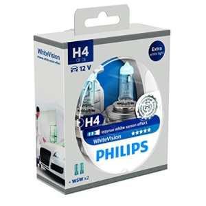 Philips WhiteVision effet xénon H4 pour éclairage avant 12342WHVSM, blister de 2
