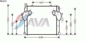 Prasco mE4223 échangeur thermique intermédiaire