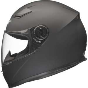 Shox Casque de moto solide noir Noir mat moyen