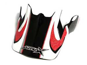 Visière casque moto cross ATRAX – Rouge