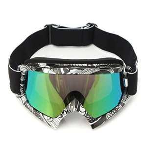 AUDEW Lunettes de Ski Protection Masque de Visage pour Extérieur Activité Moto Cross Google VTT Vélo Snowboard Anti-UV Anti-brouillard Anti-poussière Anti-Soleil Équipement Sport Hiver Loisir (QL036 Len Coloré)
