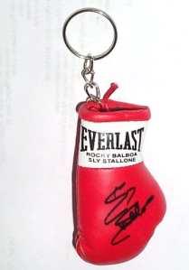 Autographiée Mini gant de boxe porte-clés Rocky Balboa / Sly Stallone