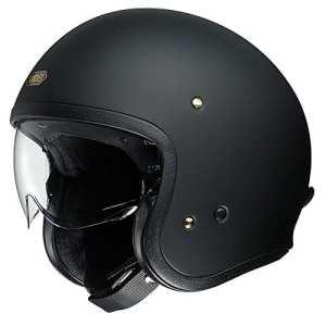 Casque de moto shoei J.O. Matt noir Face ouverte