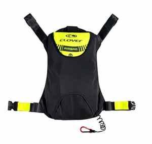 Clover Moto Airbag Kit–Externe, Noir/Jaune Neon, M
