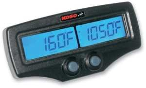 Koso North America Dual EGT Meter with Tachometer and Water Temperature with Fast-Response EGT Sensors BA006B00X by Koso