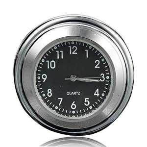 AUDEW 7/8» 22cm Universel Moto Horloge de Guidon Etanche Cadran Noir
