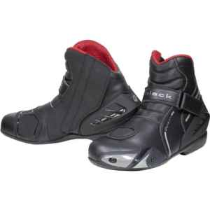 Black Circuit Short Ankle Motorcycle Boots 43 Black (UK9)