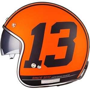 Black Edition Limitée 13casque à visage ouvert, Orange mat, 57-58cm | M
