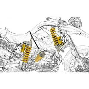 BMW R 1200 GS 2012 12 OHLINS KIT AMORTISEUR MECHATRONIC BM 670