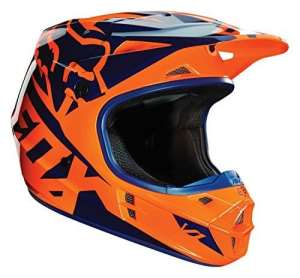 Casque Motocross Fox 2016 V1 Race Orange-Bleu (M , Orange)