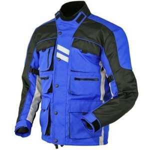 Hommes Moto Jacke Veste Blouson En Cordura Imperméable Motorcycle Jacket Blue Xl