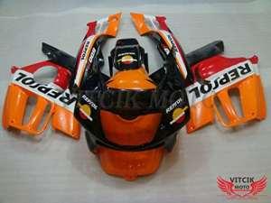 VITCIK (Kits de Carénage fixation Honda CBR600 F3 1995 1996 CBR 600 F3 95 96 ) Moule pour injection de plastique ABS Parties cycle de motos complètes Pièces détachées de Cadres du marché des pièces détachées Accessoires(Orange & Noir) A003