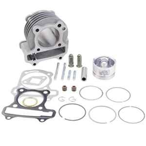 GOOFIT Performance Big Bore Cylinder Kit GY6 80cc 47mm pour 139QMB VTT Scooter Mobylette Go Kart