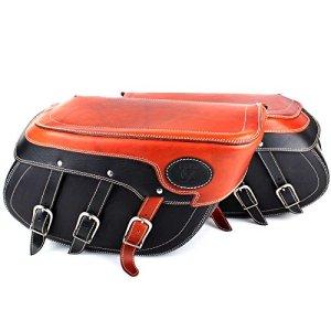 Sacoches Set avec grande qualité Ferme rückwände poches en Noir marron Pack avec réduction de couleur