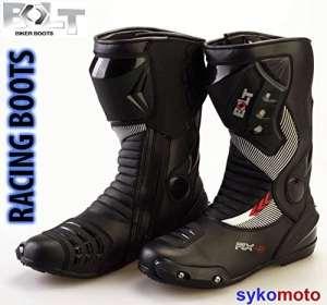 Bolt S12Sports Protection Moto course Slider imperméable Noir Bottes 43 EU/9 UK noir