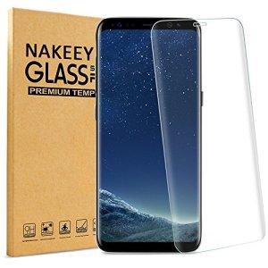 Galaxy S8 Plus Protection écran en Verre Trempé, Nakeey Film de 3D Incurvé Protection d' Écran pour Galaxy S8 Plus Protecteur Transparents Ultra Clear HD Anti-casse Anti-rayures