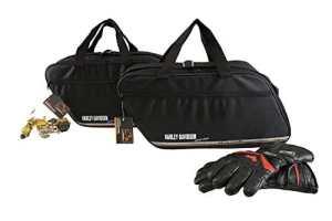 m4b Promotion: Harley-Davidson Road King valise en cuir: Poches intérieures / sacs intérieurs pour valises latérales