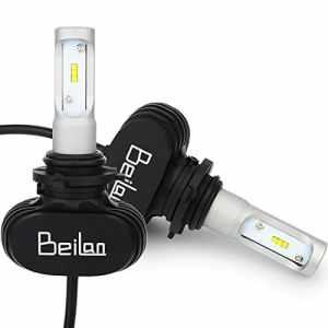 HB4 9006 LED Ampoules Lampes à LED 8000LM Super Bright 6500K Ampoules de rechange à lumière blanche Remplacer pour halogène ou ampoules HID (Pack de 2)