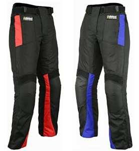 Hilbro pour homme moto Pantalon de moto en Cordura textile étanche Pantalon toutes les tailles/météo, Homme, noir/rouge, 40