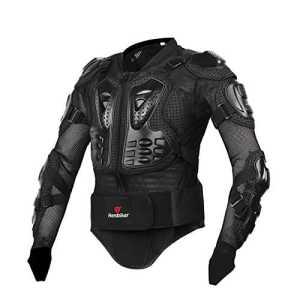 zyurong Corps Noir Armour MX Motocross Moto VTT Cyclisme Patinage Snowboard dos Protection Bionic Veste pour homme Noir