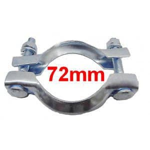 Collier Echappement Diamètre 72mm PGP55 Serrage pot ou tuyau