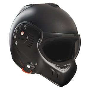 Roof Boxer V8 Full Black Flip Front Motorcycle Helmet L Matt Black