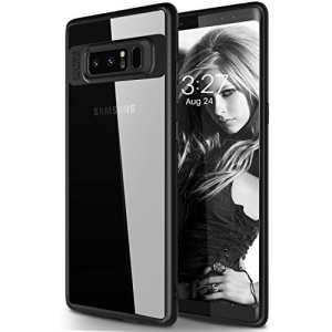 Coque Galaxy Note 8, KKtick Housse Etui Galaxy Note 8 Housse de Protection Absorption de Choc protezione antiurto TPU Frame Con Trasparente PC Panel Bumper Shell per Galaxy Note 8 – Noir