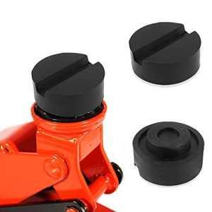 Cric de levage, Aodoor Bloc en caoutchouc pour cric de levage, tampon de caoutchouc Hydraulique Solide Résistant Protéger (65mm X 25mm)