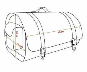 Sacoche en Cuir Transport Casque Oxyde 40L Premium Tek, Sac, Rouleau Voyage