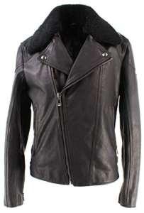 Vestes Hommes BELSTAFF 71020560 Wingrave Blouson Man Black Cuir Noir Nouveau