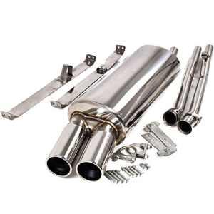 Stainless Steel Performance Exhaust Rear Silenced Muffler Back Box