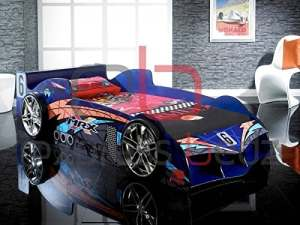 Buckingham Lits Raging Racer Bleu Racing Car Lit uniquement (idéal pour les enfants, enfants garçons ou filles) Schumacker, Lewis Hamilton