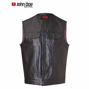 John doe mC-oUTLAW club veste en cuir noir 4XL