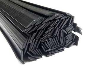 Plastique baguettes de soudure PP/EPDM Noir 8x1mm Plat 25 Barres