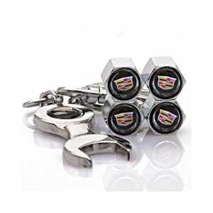 hotrodspirit – bouchon valve de roue (x4)+ porte cle cadillac auto
