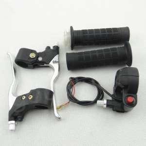 Huopu Poignée Grips + Kill Switch + d'accélérateur leviers de frein pour mini Pocket Dirt bike
