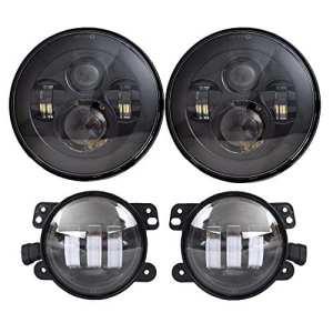 45W LED kit Phare 17,8cm rond Halo Bague œil d'ange Vidéoprojecteur lampe frontale Assembly