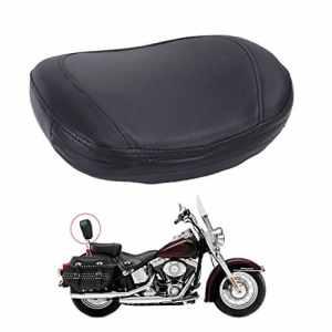 Aochuang Noir dossier clouté Sissy Bar semi-circulaire Coussin Pad pour Harley Honda Yamaha Suzuki