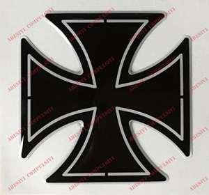 Emblème Logo Decal Harley Davidson, croix de Malte, adhésif en résine, effet 3d. Pour réservoir ou casque