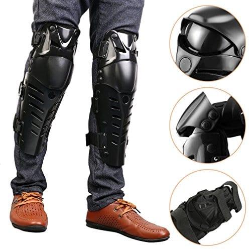 Genouillères pour moto, 2patins de protection réglable pour motocyclistes protéger genou d'adultes pour moto motocross