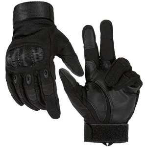 Lictin Gants Tactiques Plein-doigt, Unisexe, de Taille M pour Moto, Vélo, Motocross, Combat, Camping, Excursion et d'autres Activités au dehors