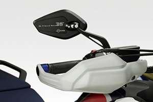 Produits universels (Race)–Kit miroirs 'Revenge'–Rétroviseurs en aluminium de facile Installation–Noir mat–Accessoires de Pretto moto (DPM)–100% fabriqué en Italie Honda CRF1000 AFRICA TWIN 2017 noir opaque