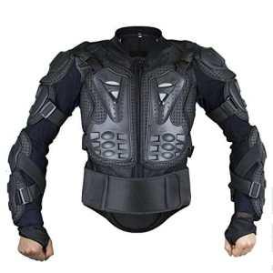 Webetop Veste avec protection dorsale Veste de protection pour moto sport gilet de protection armure Blouson de motard S