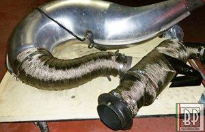 5mètres Bandage thermique échappement collecteurs Tuyau auto moto, technologie aérospatiale 100% Made in Italy, diamètre 50mm