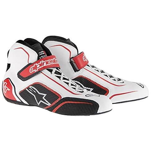 Chaussures Alpinestars Tech 1 T Blanc/Rouge 47