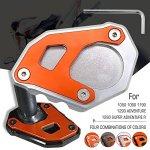 Plaque Extension Béquille latérale Pour KTM 1050 1090 1190 1290 Adventure ADV 1290 Super Adventure R Argent & Orange