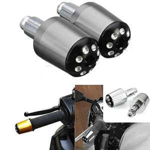 ViZe 7/8» 22 mm Embouts de Guidon Moto CNC En Aluminium Anodisé (Titane)