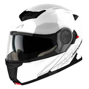 Astone Helmets Casque Modulable RT1200, Blanc, M