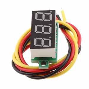 Homyl Numérique Voltmètre Testeur de Tension Panneau LED Tension D'affichage – Yelllow